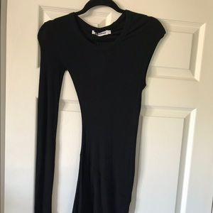 T by Alexander Wang Asymmetrical Ribbed Dress